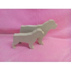 18mm thick mdf pair of Rottweiler dogs